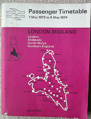 BR(LM) timetable 1973/74 inc Crewe-Preston electrified working delay supp