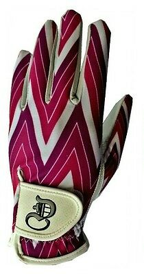 Golf Glove 100%Cabretta Leather Palm Lycra Sublimation Back Ladies left hand