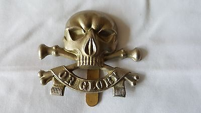 "WW1 - 17-21st LANCERS 1896 - 1922 ""SKULL"" ARMY CAP BADGE ORIGINAL & GENUINE"