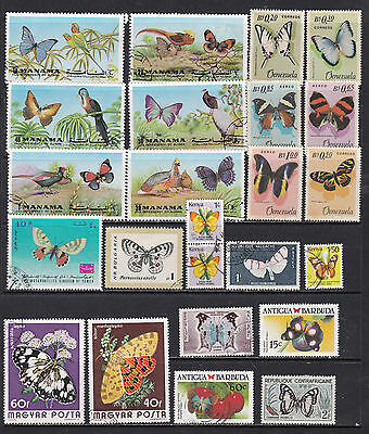 Thematics Animal Kingdom Stamps Butterflies and Insects 3 SCANS (Bu08011c)
