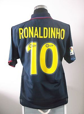 RONALDINHO #10 Barcelona Away Football Shirt Jersey 2003/04 (L)