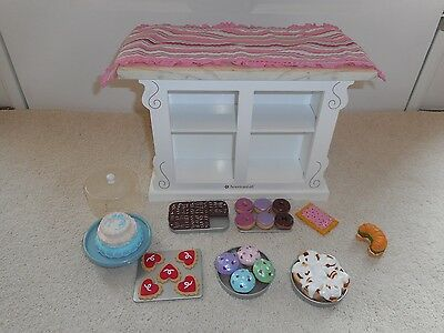 American Girl Doll Sweet Treats Bakery Case WITH FOOD DESSERTS Grace RETIRED