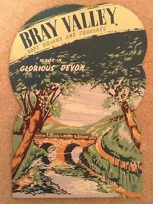 1950s Counter Advert - Bray Valley Soft drinks and Squashes, Devon - Superb