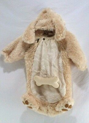 Baby Infants Halloween Costume 0 - 9 Months Puppy Dog Closed Bottom Bunting EUC
