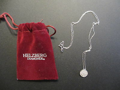 New Helzberg Diamonds Sparkling Circle Pendant Necklace in Sterling Silver
