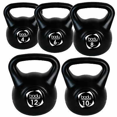 4KG - 12KG Vinyl Kettlebell Set Home Gym Dumbbell Weights Fitness Kettlebells