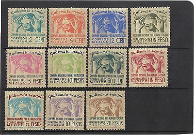 Mexico 1945 - Literacy Campaign Complete Set M.n.h. And Lmm Cat. £78