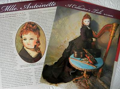 6 p Costuming Article + Pictures -   Antique French Fashion Doll & Her Clothing