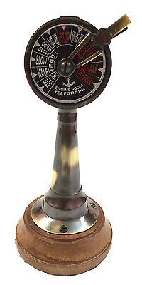 "6"" Antique Brass Ship's Engine Order Telegraph~Nautical Decorative Collectible"