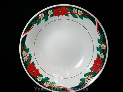 "A Beautiful 9 3/16"" Serving Bowl by Tienshan Fine China. Deck the Halls"