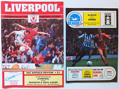 Liverpool v Brighton & Hove Albion - F.A. Cup 4th Round + Replay 1990/91