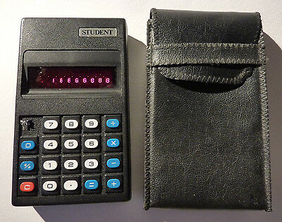 Red Led Calculator - Retro Electronics - Student Calculator - Vintage Electronic