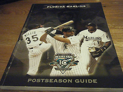 2003  FLORIDA MARLINS  10th ANNIVERSARY  POSTSEASON GUIDE  LARGE A4 BOOK 188 Pg