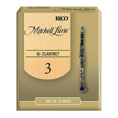 Rico Mitchell Lurie Bb Clarinet Reeds - Box Of 10, Strengths 1.5 - 4