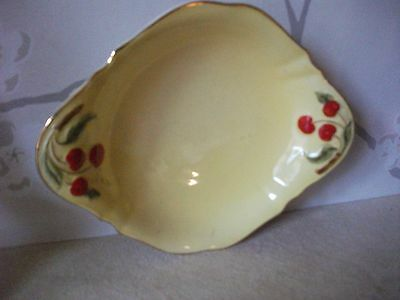 "VINTAGE Royal Winton Grimwades Yellow Ground cherry dish 7"" long"