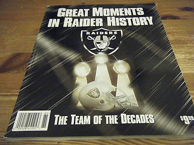 Oakland Raiders  American Football -  Great Moments In Raider History  Vgc