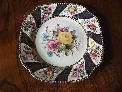 "Spode Cabinet Collection Plate, Painted Floral Bouquets ""kinswood"" Beautiful"