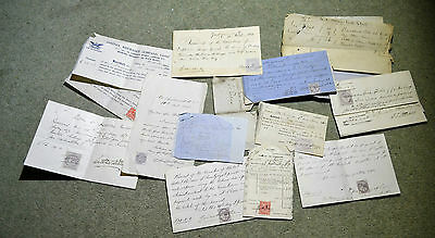 Antique Mixture of Receipts for Monies Owed Dated from 1824 to 1915