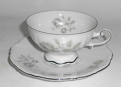 Mitterteich China Germany Porcelain Mystic Rose Cup/Saucer Set