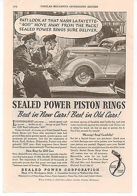 Vintage, Original, 1937 - Sealed Power Piston Rings Ad - Engine, Motor