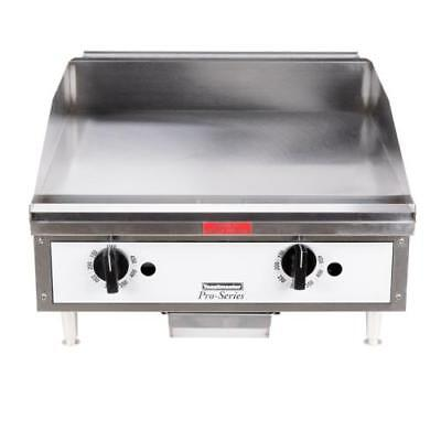 "Toastmaster TMGT24 24"" Thermostatic Countertop Gas Griddle - Flat Top Grill"
