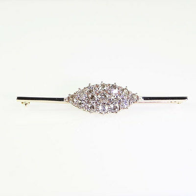 Victorian 15ct Diamond Cluster Brooch