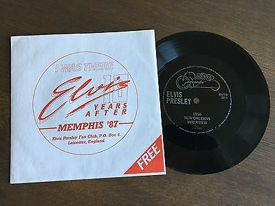 """ELVIS PRESLEY 1956 New Orleans Interview UK FLEXI-DISC 7"""" BUTTONS RECORDS 8"""