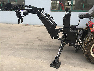 "New BH5600 PTO 3 Point Backhoe Tractor Excavator Attachment w/ Pump 15"" Bucket"