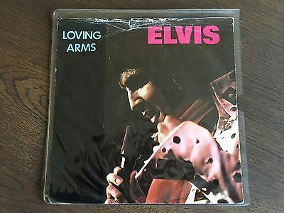 """ELVIS PRESLEY Loving Arms/ You Ask Me To UK 7"""" VINYL 1981 VG+/G 45 RECORD RCA 48"""