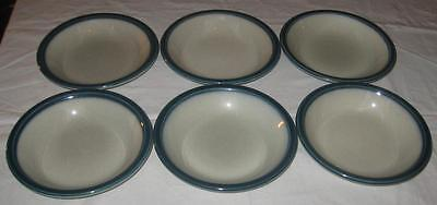 Wedgwood Blue Pacific Cereal / Soup Bowls ( Set Of 6 )