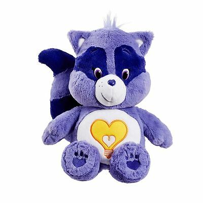 Care Bears Plush (Medium) with DVD - Bright Heart Raccoon - Brand New