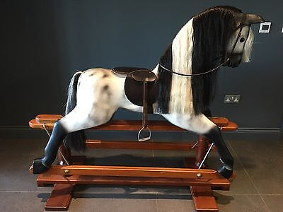 Large wooden rocking horse by Horseplay