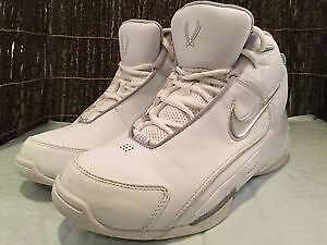 New Nike Air Flight Dime Dropper Basketball Shoes 316410 Women 6.5 White/Silver