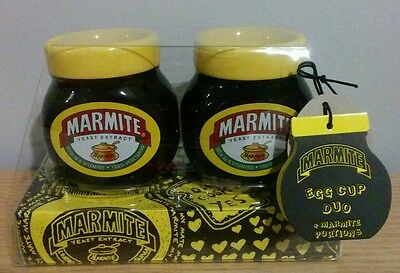 Marmite Yeast Extract Egg Cup Duo New Advertising Collectables