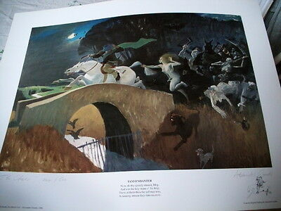 Alexander Goudie -The Chase- Tam O'shanter  - Signed & Numbered Limited Edition