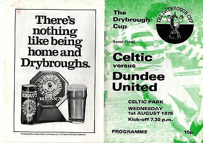 Drybrough Cup semi-final:-CELTIC v DUNDEE UNITED 1/8/1979.