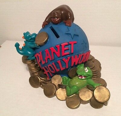 Planet Hollywood Coin Bank Globe Earth