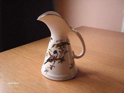 Vintage Arcadian Crested China Jug From Bude With Bird Design.