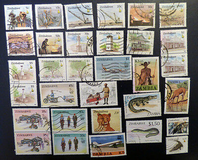 Zimbabwe selection of over 30 stamps