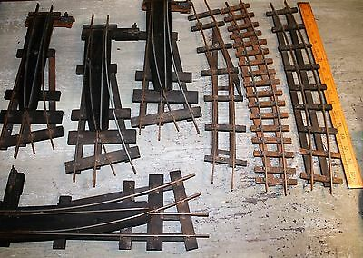 Bassett - Lowkes Type 0-Gauge, 2-Rail, 4 sets Left Hand Points, 3 Curved Tracks