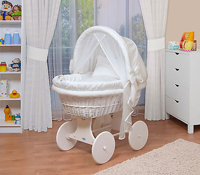 WALDIN Baby Toy wagon,Bassinet XXL New White