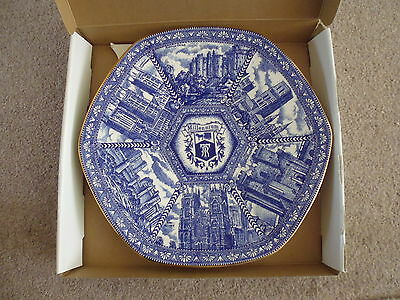 Ringtons Millennium Blue And White Collectors Plate Boxed