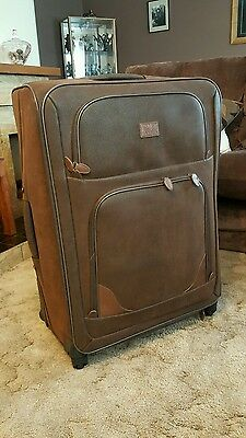 leather suede suitcases