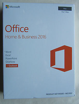 *NEW* Microsoft Office Home and Business 2016 For MAC W6F-01029