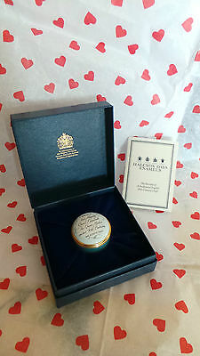 Halcyon Days Enamel Box ~ 'A Tribute To The Queen Mother 90th Birthday' ~ Boxed