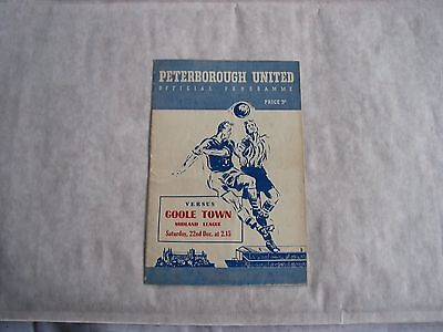 Peterborough Utd v Goole Town 1956