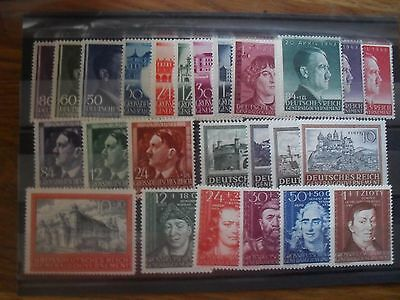 Germany 1943/44 Third Reich  General Gouvernement Occupation Poland MNH complete