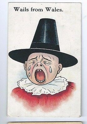 Postcard Wails From Wales 1920 Cardiff Cancel National series