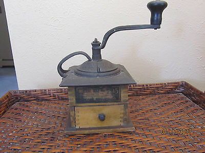 Vintage Imperial Mill No. 705 Cast Iron and Wood Coffee Grinder Mill