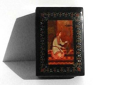 Vintage Signed Hand Painted Russian Lacquered Box # 2
